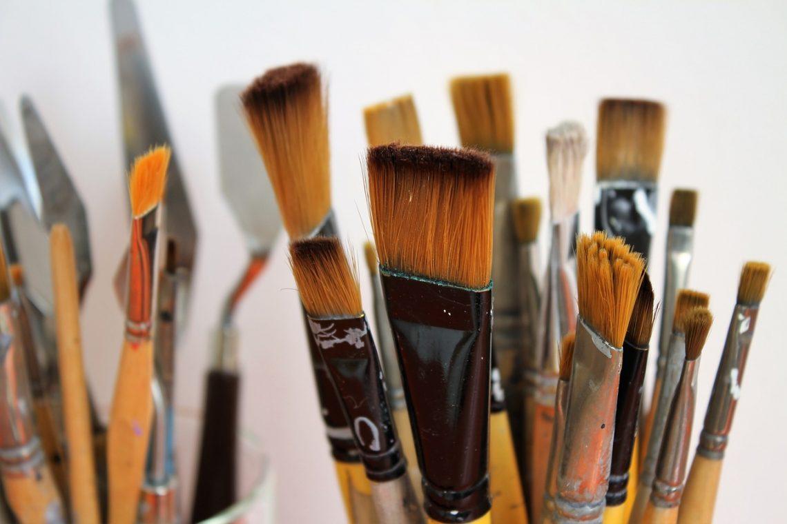 Pinceles para acrílicos, Pintura acrílica, brush, painter brush, paint