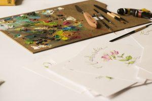 watercolor, painting, brush
