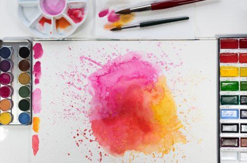 acuarelas formatos, watercolour, yellow, orange
