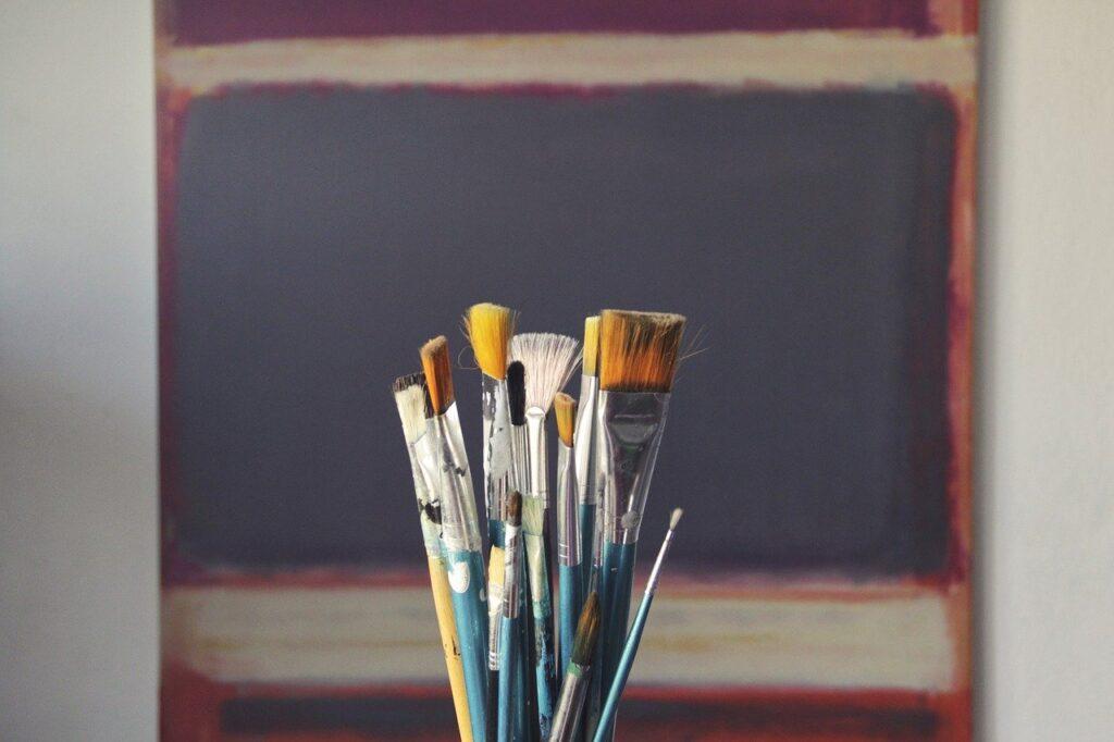 lienzos, canvas, brushes, art, paint