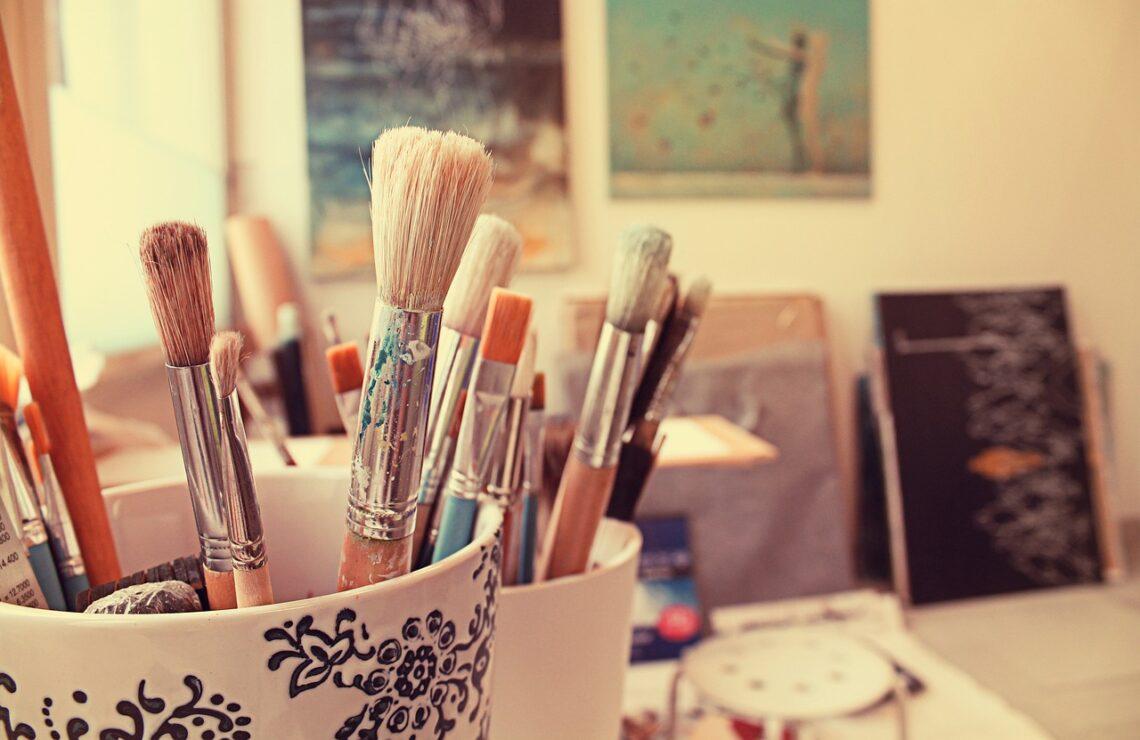útiles para pastel seco y al óleo, brushes, art, painting