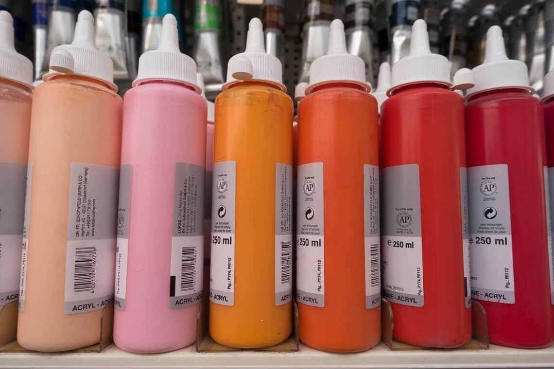 pintura acrílica, color, acrylic paints, paint