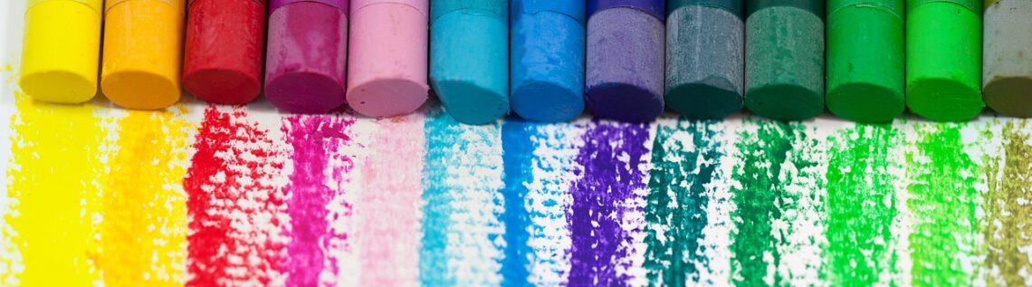 pastel al óleo, color, oil pastels, colorful