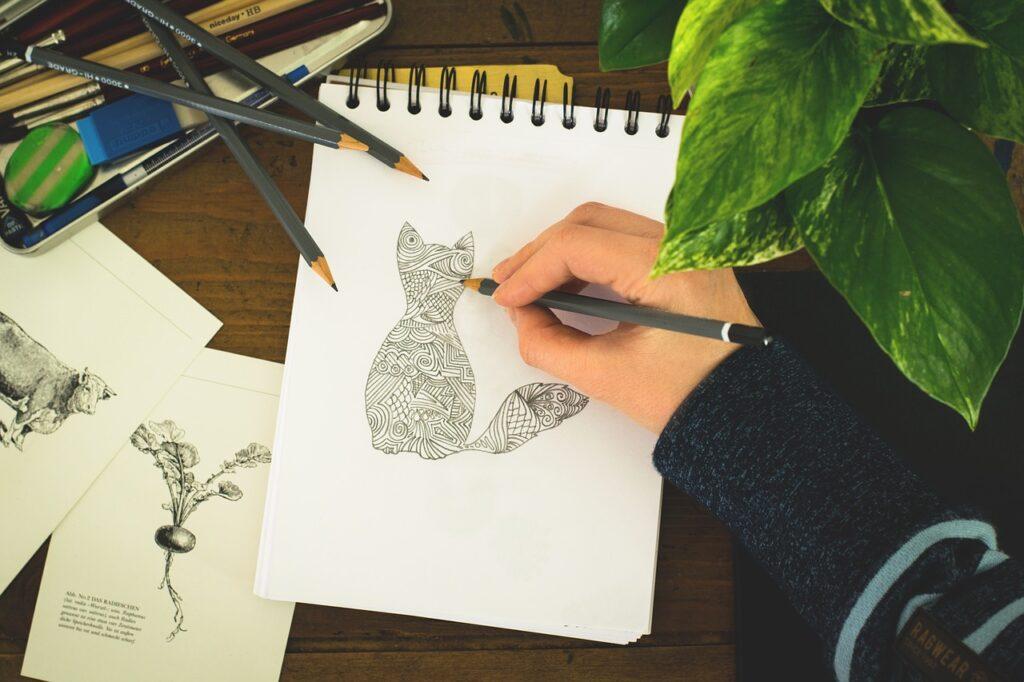 Cuadernos para técnicas secas,draw, paint, hand